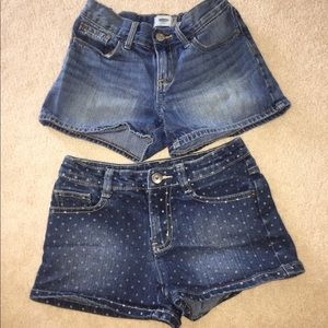 Other - Size 8 girls denim shorts - EUC!